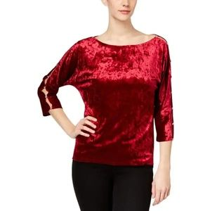 CABLE & GAUGE pullover velour top